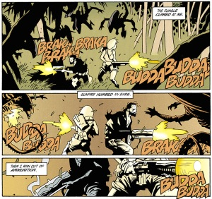 Aliens: Salvation is your standard man vs. alien story, although beautifully illustrated by Mike Mignola.