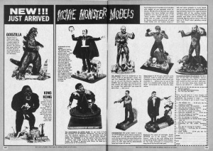 Ads for the Aurora Monster Kits ran frequently in the much-loved magazine Famous Monsters of Filmland.