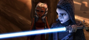 """Weapons Factory"" and ""Brain Invaders"" gives Ahsoka Tano and Bariss Offee a chance to shine amidst the chaos of the Geonosian campaign."