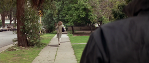 Michael Meyers stalks student Laurie Strode throughout the film.