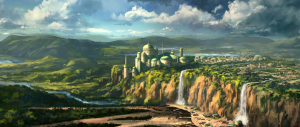 The series' landscapes are particularly beautiful and are visually stunning. Naboo capital Theed as seen in the episode