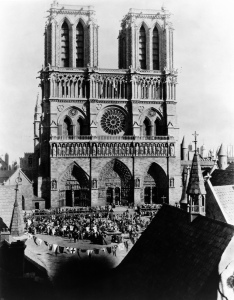 You could be forgiven for mistaking the set of Notre Dame for being the real cathedral.