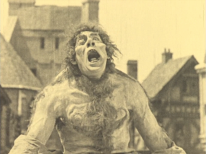 In perhaps the film's most disturbing moment, Quasimodo howls in pain from being whipped publicly.
