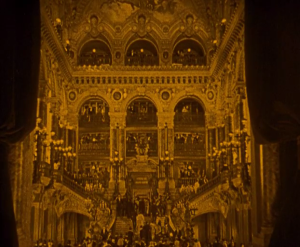 The Paris Opera House set, as seen here in the opening of the film, is truly breathtaking to see.