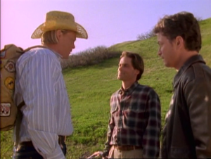 Bill Fagerbakke as Tom Cullen, Rob Lowe as Nick Andros, and Gary Sinise as Stu Redman.