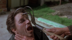 The film still has hilariously brutal violence going for it though.