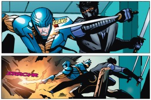 Whilst the collection works as a standalone story, the appearance of Ninjak in the second storyline hints at a larger shared universe of characters.